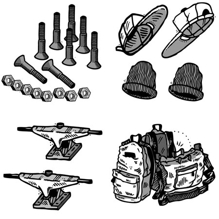 Skateboarding shoes, apparel, and gear in stock, fast shipping!